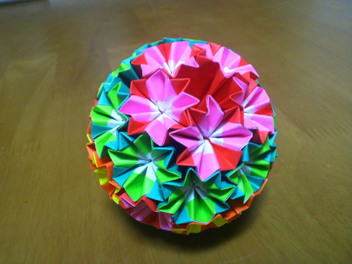 ハート 折り紙:七夕飾りの作り方 折り紙 くす玉-divulgando.net